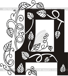 Kyrillischer Buchstabe Д - Vektorgrafik-Design