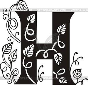 Großbuchstaben H - Vektor-Clipart
