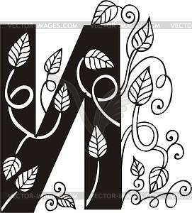 Kyrillischer Buchstabe И - Clipart-Bild