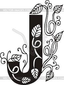 Großbuchstaben J - Vektor-Design
