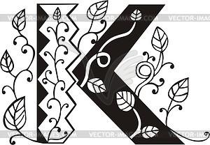 Großbuchstabe K - Vektor Clip Art