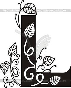 Großbuchstaben L - Vector-Bild