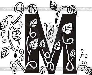 Großbuchstaben M - Vector-Design