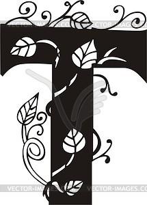 Großbuchstaben T - Vektor Clip Art