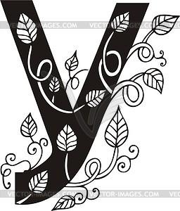 Kyrillischer Buchstabe У - Vektor Clip Art