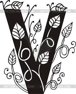 Großbuchstaben V - Vektor-Illustration
