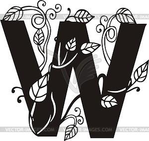 Großbuchstabe W - Vector-Illustration