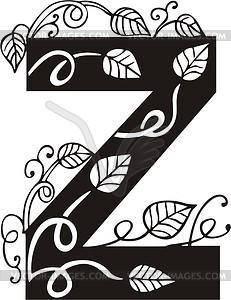 Großbuchstabe Z - Vektorgrafik-Design