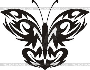 Schmetterling Tattoo - Vector-Illustration