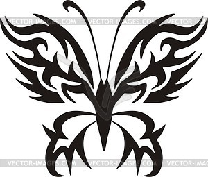 Schmetterling Tattoo - Vektor-Clipart / Vektor-Bild