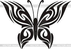 Schmetterling Tattoo - Vinyl-Ready Vektor-Clipart