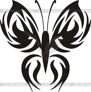 Schmetterling Tattoo - vektorisiertes Design