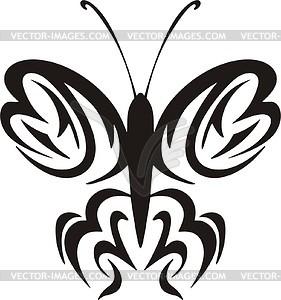 Schmetterling Tattoo - Vektorgrafik