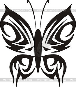 Schmetterling Tattoo - Vector-Clipart EPS
