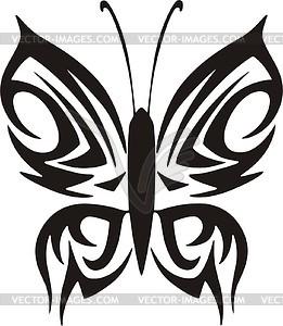 Schmetterling Tattoo - Vector-Clipart EPS
