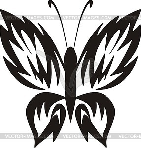 Schmetterling Tattoo - Vector-Clipart / Vektor-Bild