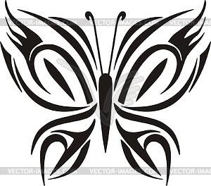 Schmetterling Tattoo - Vector-Clipart / Vektorgrafik