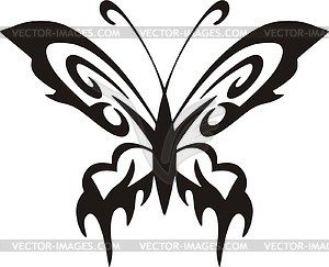 Schmetterling Tattoo - Vektor Clip Art