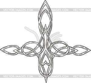 Knote Kreuztatau - Royalty-Free Vektor-Clipart