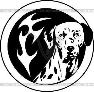 Rundes Dalmatiner Tattoo - Vektorgrafik