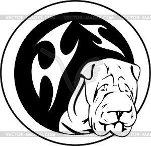 Rundes Hund Tattoo - Vektor-Clipart / Vektorgrafik