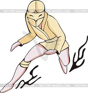 Ninja - vektorisiertes Bild