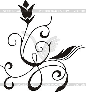 Einfaches Blumen-Design - Stock Vektor-Bild