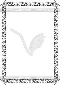 Keltischet Rahmen - Clipart-Bild