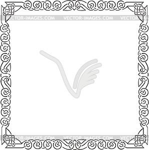 Keltischer quadratische Rahmen - Vektorgrafik