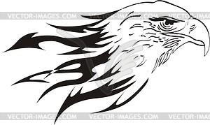 Adler Flammentattoo - Clipart-Bild