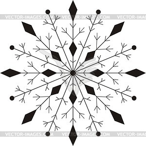 Schneeflocke - Vektorgrafik