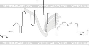 Detroit skyline - vector clipart