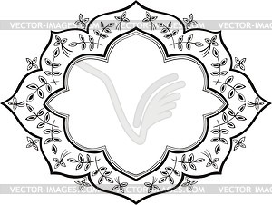 Decorative frame - vinyl EPS vector clipart