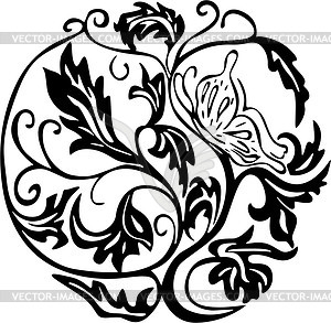 Blume-Dingbat - Vektor-Bild