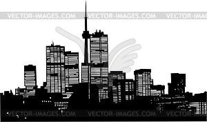 Skyline von Moskau - vektorisiertes Bild