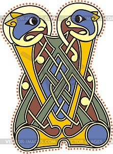 Keltischer Buchstabe V - Clipart-Bild