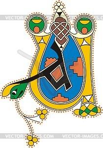 Keltische Initialen UA - Vektorgrafik