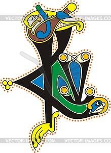 Keltische Buchstaben ICV - Vektorgrafik