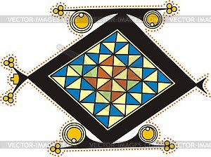 Keltischer Buchstabe O - Vector-Clipart / Vektorgrafik