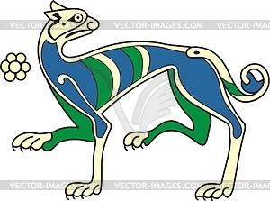 Keltisches Hund Clipart - farbige Vektorgrafik