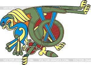 Keltischer Buchstabe T - Vektor-Bild