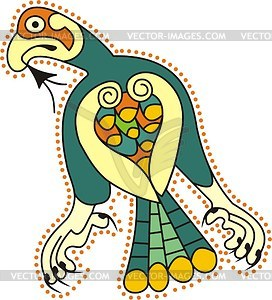 Keltisches Vogel Clipart - Vektor-Klipart