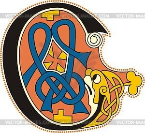 Keltischer Buchstabe C - Clipart