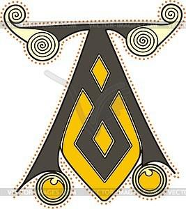 Keltischer Buchstabe A - Vector-Bild