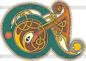 Keltische Buchstaben EA - Vektorgrafik