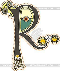 Keltischer Buchstabe R - Clipart-Design