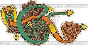Keltischer Bchstabe E - Clipart-Design