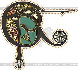 Keltische Buchstaben EP - Vektorgrafik