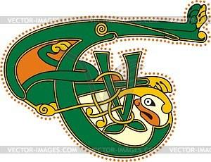 Keltischer Buchstabe T - Klipart