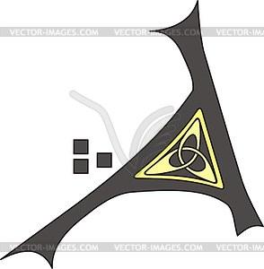 Keltischer Buchstabe A - Vector-Design